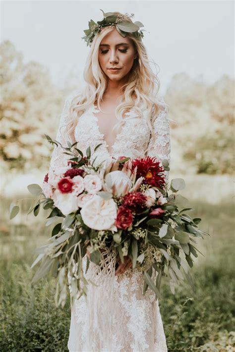Gorgeous Southern Marsala Wedding At Grace Oaks Boho