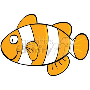 royalty  clown fish  vector clip art image eps