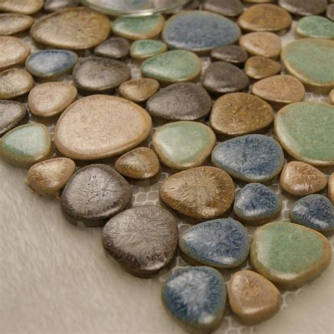 pebble ceramic tile wholesale porcelain tile mosaic pebble design shower tiles kitchen backsplash wall sticker