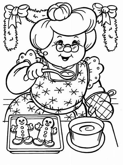 Coloring Santa Mrs Xmas Claus Clause Christmas
