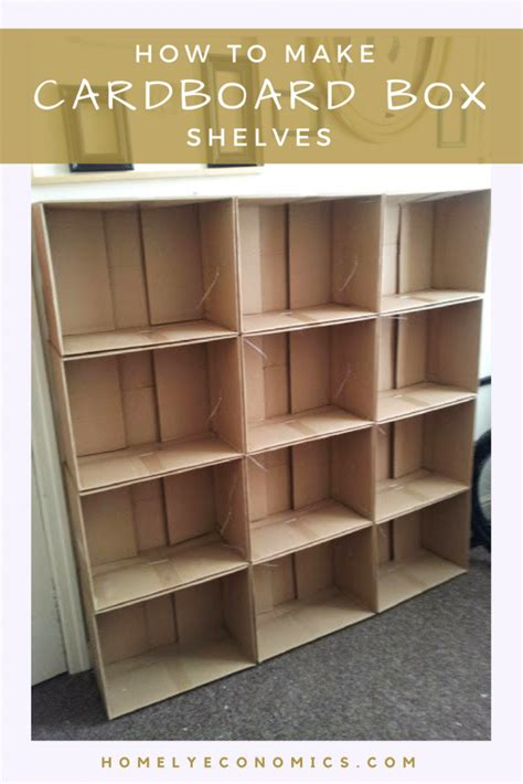 How To Make Cardboard Box Shelves • Homely Economics