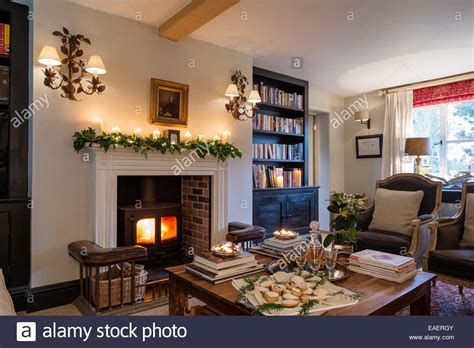 Woodburning Stove With Georgian Fire Surround In Living