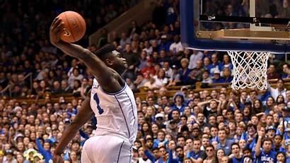 Zion Williamson Duke Dunking Ja Morant Basketball