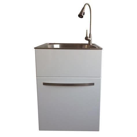 stainless steel sink cabinet presenza all in one 24 2 in x 21 3 in x 33 8 in