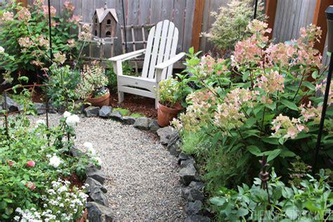 creating a secret garden my backyard tour pea gravel patios flagstone secret garden the inspired room
