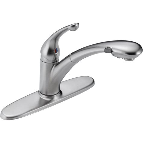 moen shower handle replacement lowes delta signature single handle pull out sprayer kitchen