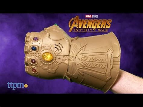 guante thanos infinity war avengers marvel electronico