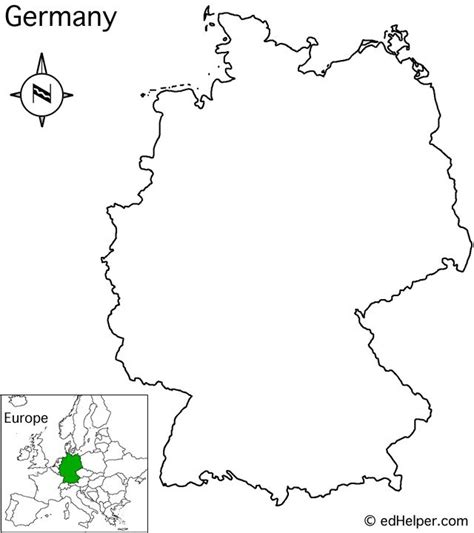 Germany outline maps in different formats which are easy to download and can be used by students to color and learn about germany & its states and neighboring countries. 17 Best images about Geography - Germany - Maps on ...