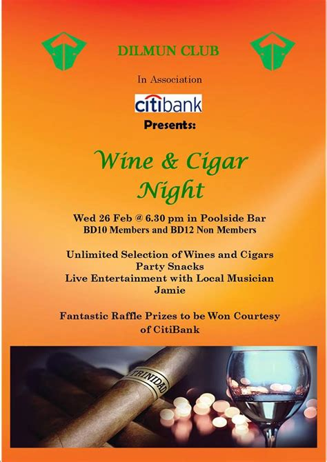 wine cigar night whatsupbahrainnet