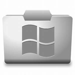 White Windows Icon - Classy Folder Icons - SoftIcons.com