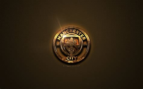 Download wallpapers Manchester City FC, golden logo ...