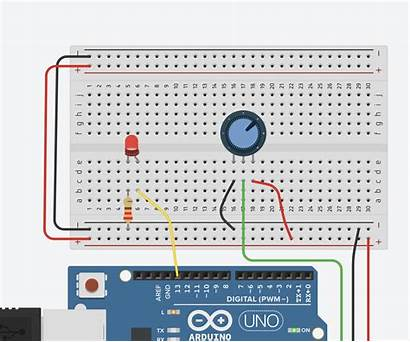 Analog Input Potentiometer Arduino Tinkercad Circuits Instructables