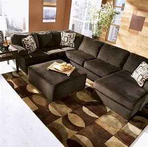 Buy vista chocolate sectional laf sofa loveseat with raf for Vista chaise sectional sofa