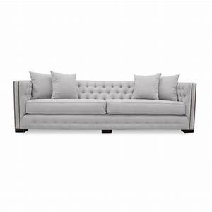 Venetian linen tufted sofa south cone home furniture for Khloe tufted sectional sofa