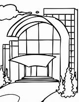 Mall Coloring Pages Neighborhood Shoping Printable Getcolorings Getdrawings sketch template