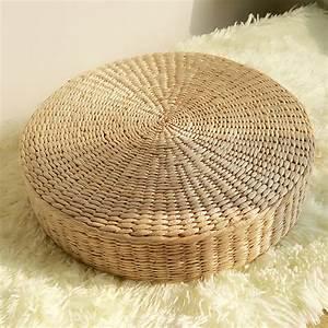 40cm round pouf tatami cushion floor cushions natural With tapis yoga avec canapé naturel