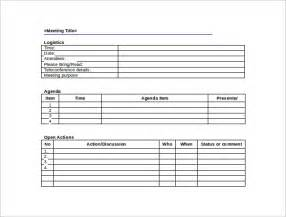 Free Meeting Minutes Template Word