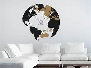 Wandtattoo Weltkarte Uhr : wandtattoo uhr weltkugel wanduhr mit uhrwerk wandtattoo de ~ Sanjose-hotels-ca.com Haus und Dekorationen