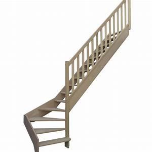 Escalier 1 4 Tournant Gauche : escalier 1 4 tournant bas sans contremarches balustres rectangles avec marche d bordante ~ Dode.kayakingforconservation.com Idées de Décoration