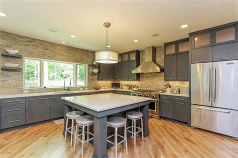 gray kitchen island 50 gorgeous kitchen designs with islands designing idea 1326