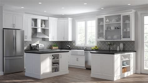 Home Depot Kitchen Expo by Elgin Oven Cabinets In White Kitchen The Home Depot