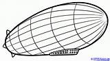 Zeppelin Draw Drawing Step Dragoart Easy Coloring Drawings Plane sketch template