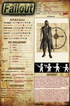 fallout style character sheets  character sheets