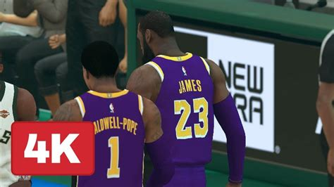 nba  bucks  lakers gameplay full quarter  xbox
