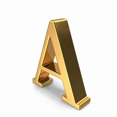 Letter Capital Gold Transparent Background Letters Alphabet