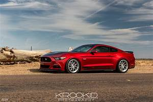 Candy Apple Red Ford Mustang S550 on CCW SP540 Forged Wheels