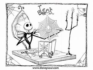 Christmas Disney Coloring Pages disney nightmare before ...