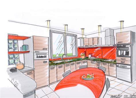 perspective cuisine dessin dessiner en perspective une cuisine 28 images