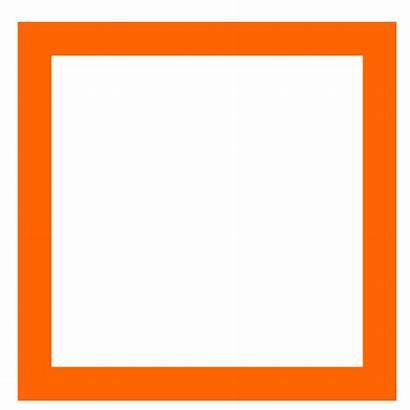 Square Clipart Clip Transparent Shapes Shape Orange