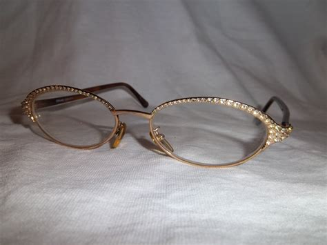 Vintage Gianna Versace Glasses With Diamonds!