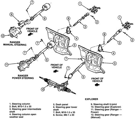 1994 Ford Ranger Steering Column Diagram by 1989 Mazda Truck B2600i 2 6l Fi 4cyl Repair Guides