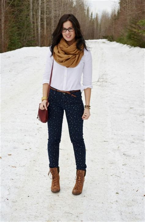 Picture Of With classic white shirt oversized scarf and printed pants