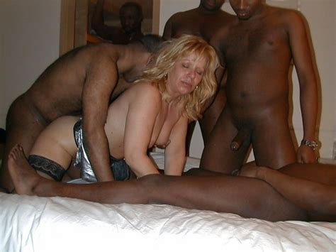 mature Uk Wife In Interracial Gangbang sex With Blacks cuckold Pictures