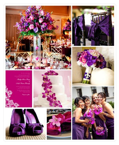 mr and mrs leonard purple pink silver wedding theme