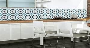 Faience Imitation Carreaux De Ciment : papier peint cuisine en carreaux de ciment deco cool ~ Dode.kayakingforconservation.com Idées de Décoration