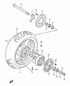 Rear Wheel For 1997 Suzuki Gsx