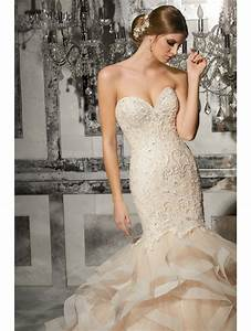 mori lee 8172 marguerit intricate mermail wedding dress With ivory and gold wedding dresses