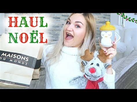 haul decoration de noel maison du monde youtube