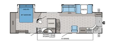 rear kitchen rv floor plans popular travel trailer floor plans cing world 7642