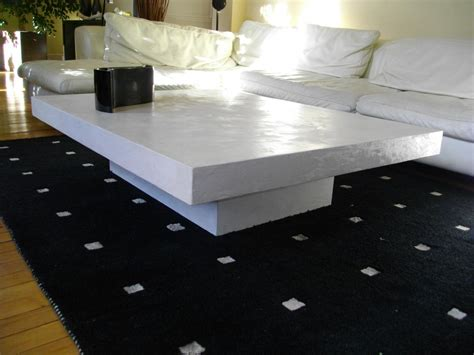 table de salon en beton cire table basse en b 233 ton cir 233