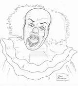 Pennywise Clown Coloring Drawing Pencil Pages Adult Dsc Ink Deviantart Drawings Colouring Clowns Pen Getdrawings Sheets Movies Creepy sketch template