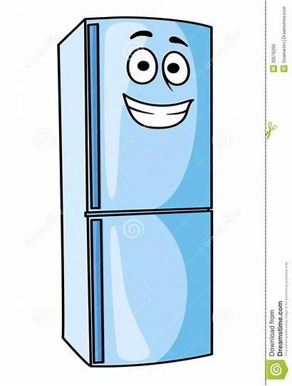 Freezer Fridge Clipart Cartoon Happy Refrigerator Kitchen