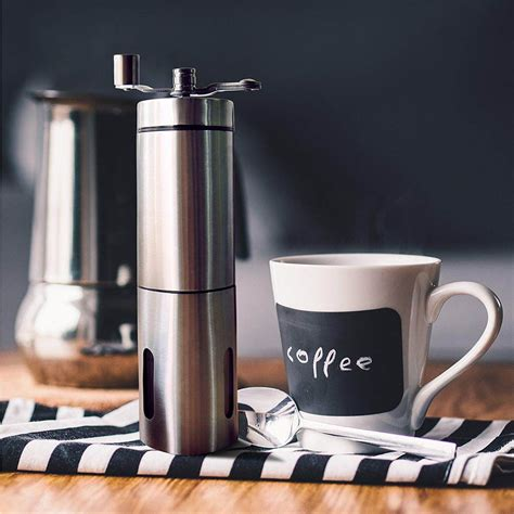 It may be hard to believe but some people are really into the manual operation for these few (good) reasons: Triangle Manual Coffee Grinder Adjustable Ceramic Conical Burr Stainless Steel | Coffee grinder ...