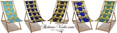 housse sur mesure canapé tissu textile au mètre style empire fleur de lys bleu or