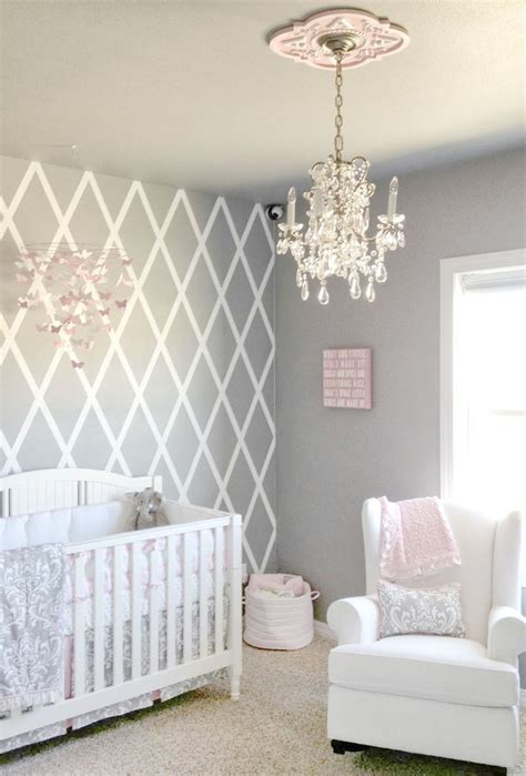 pink gray nursery  luxurious pink gray nursery room
