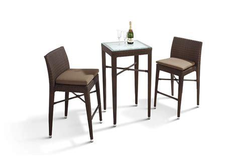 Reva Outdoor Bar Set Rectangular Table And 4 Chairs